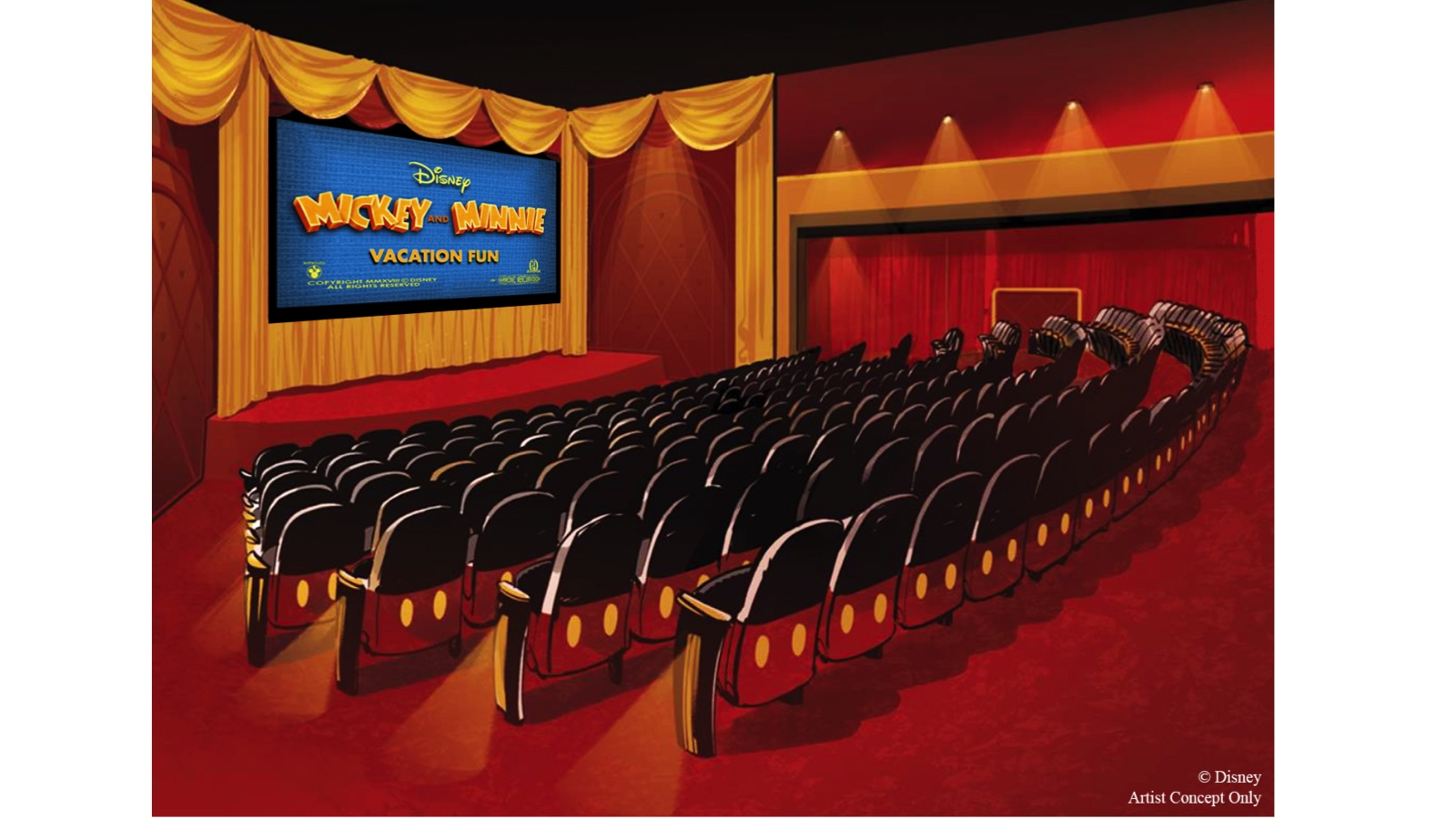 Mickey Shorts Theater concept art