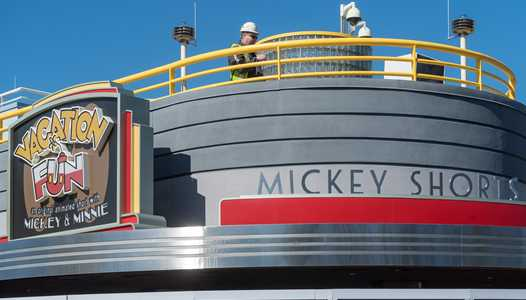 PHOTOS - Finishing touches being applied to the Mickey Shorts Theater ahead of next week's opening