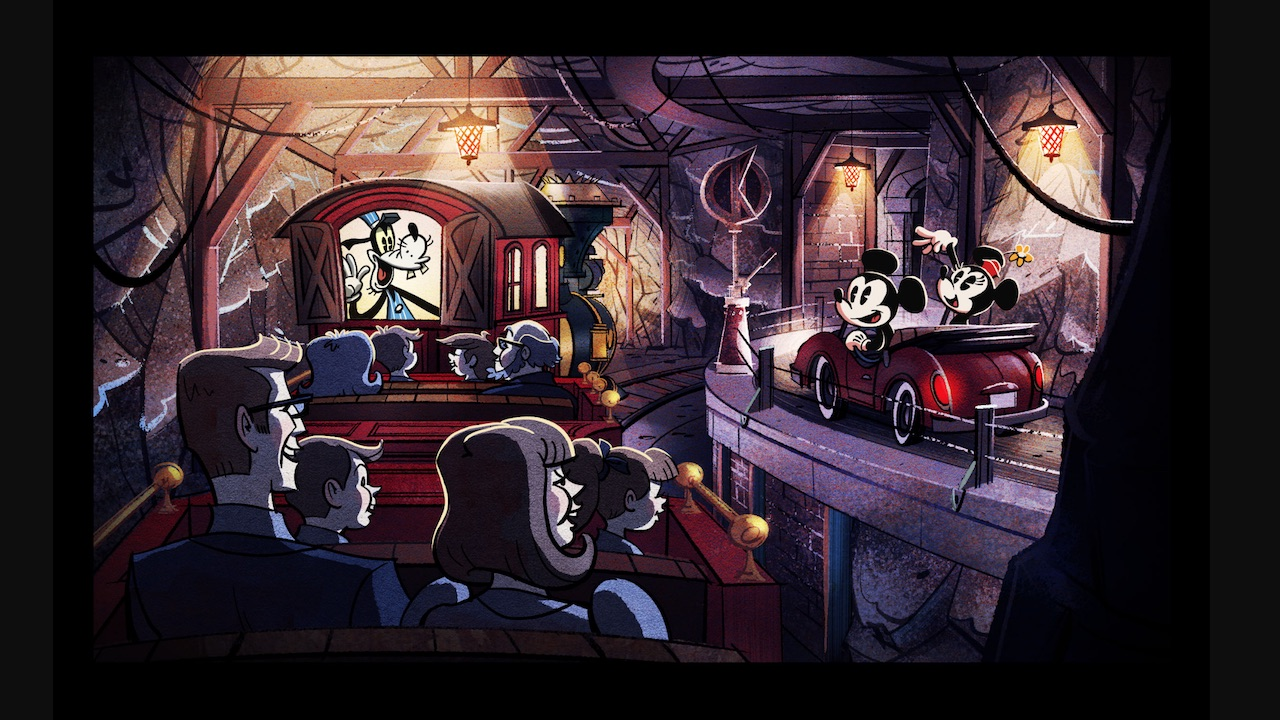 Mickey and Minnie's Runaway Railway concept art