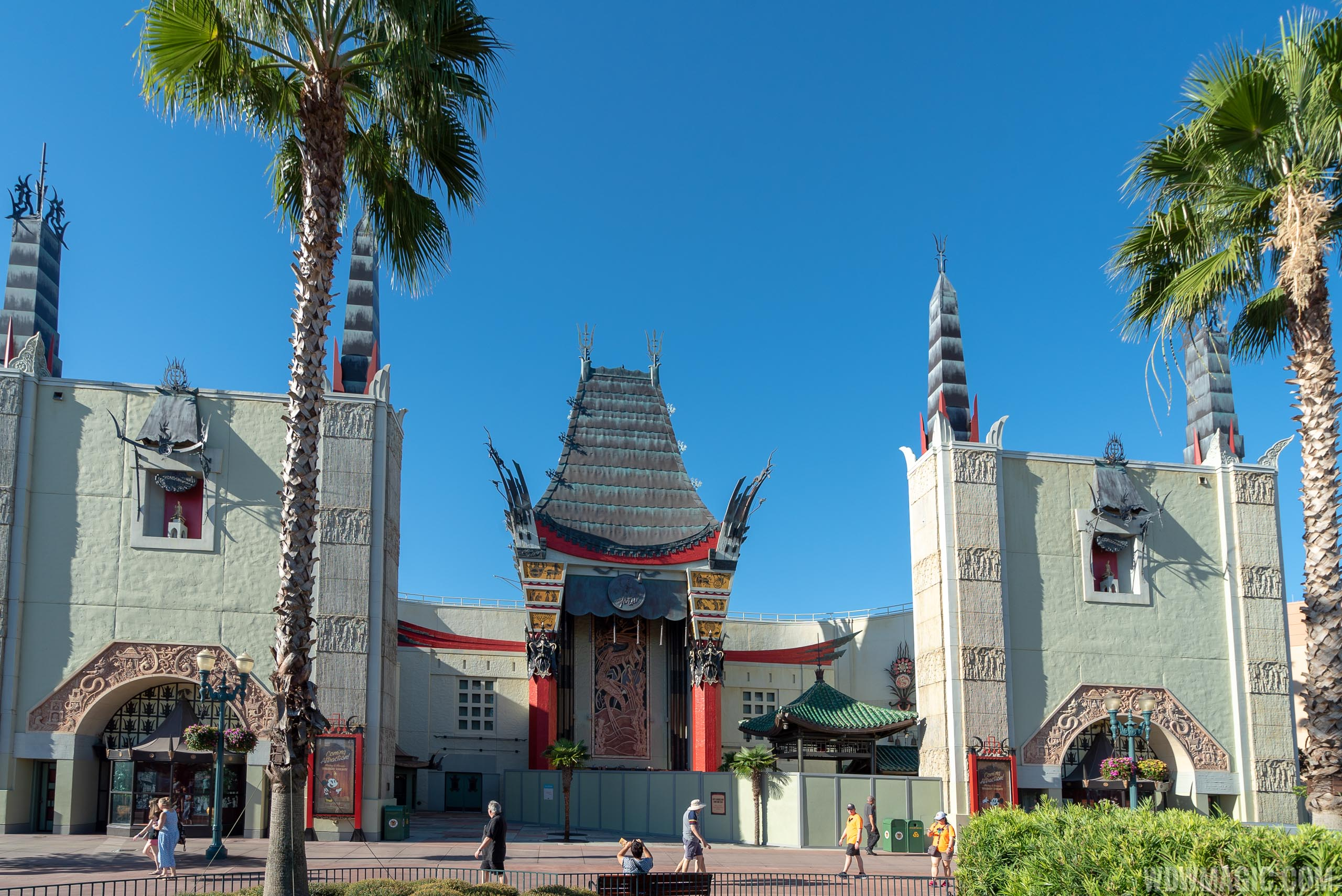 Chinese Theater exterior preparation for Mickey and Minnie's Runaway Railway