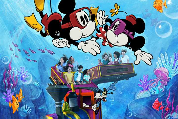 PHOTO - Disney releases a new attraction poster for Mickey and Minnie's Runaway Railway