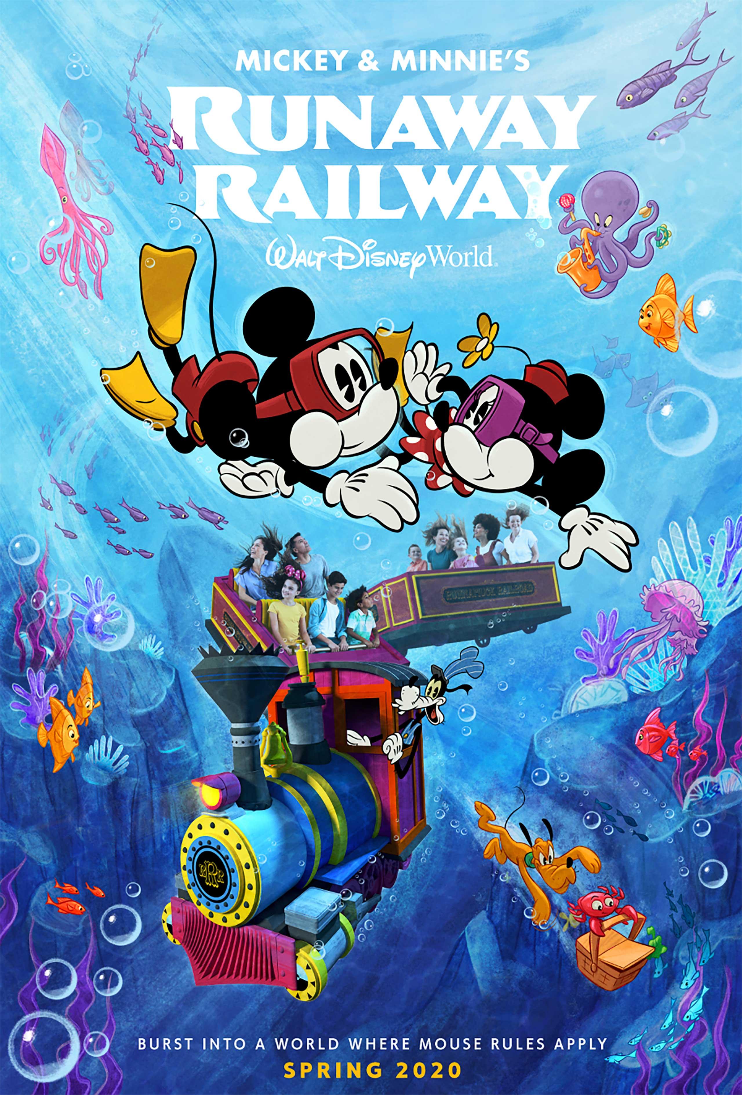 Mickey and Minnie's Runaway Railway poster November 2019