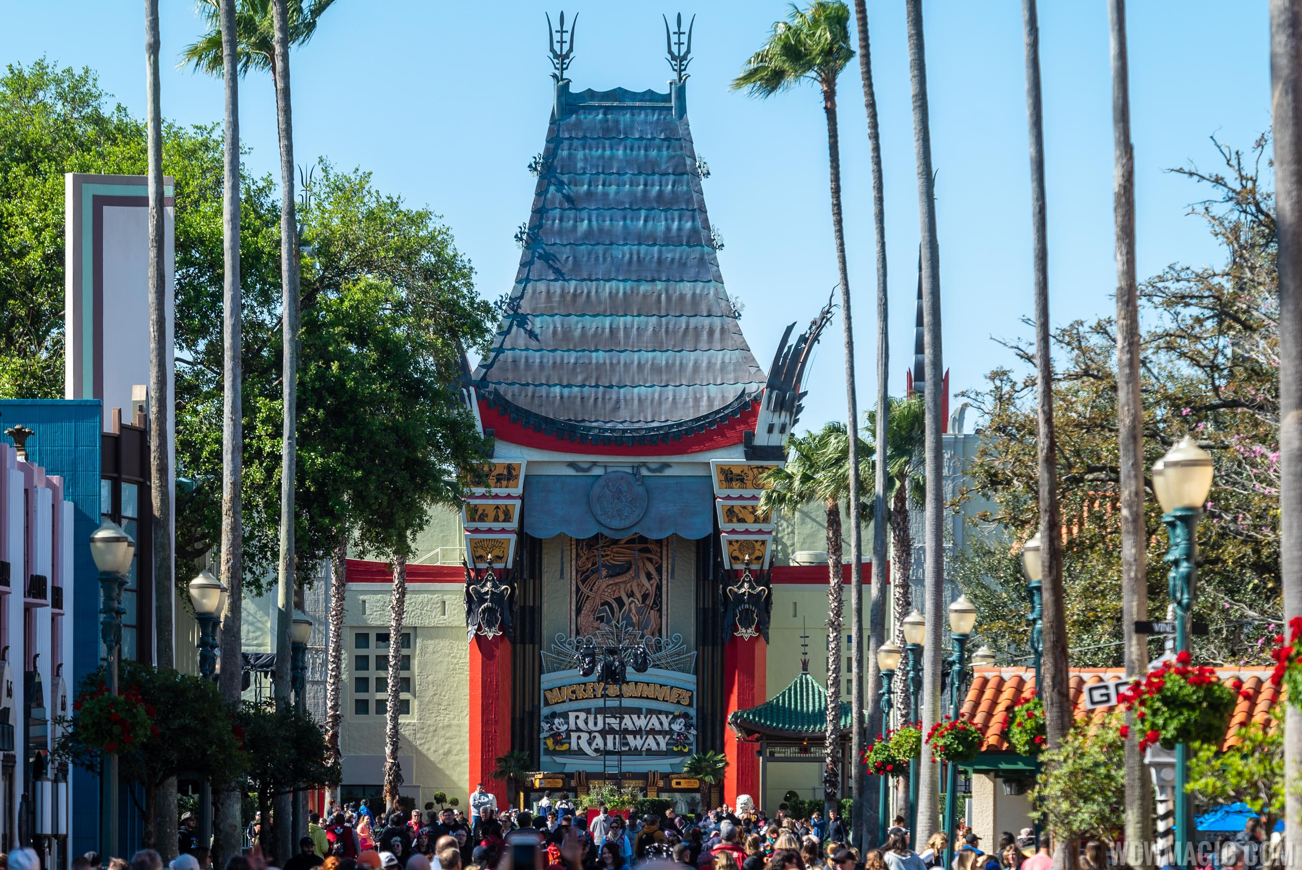 The Chinese Theater is home to Runaway Railway and the Star Wars nighttime show