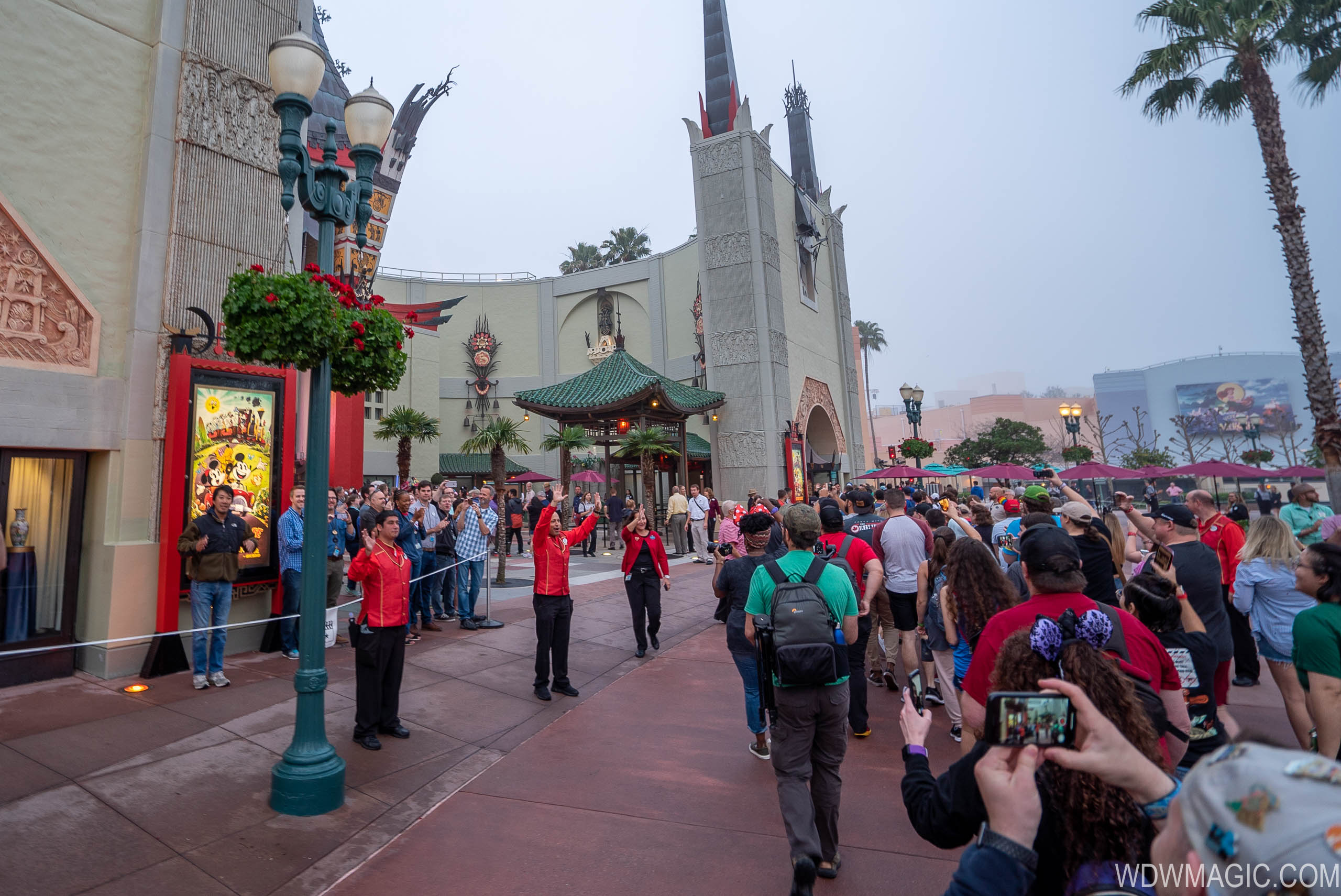 Opening Day crowds at Mickey and Minnie's Runaway Railway