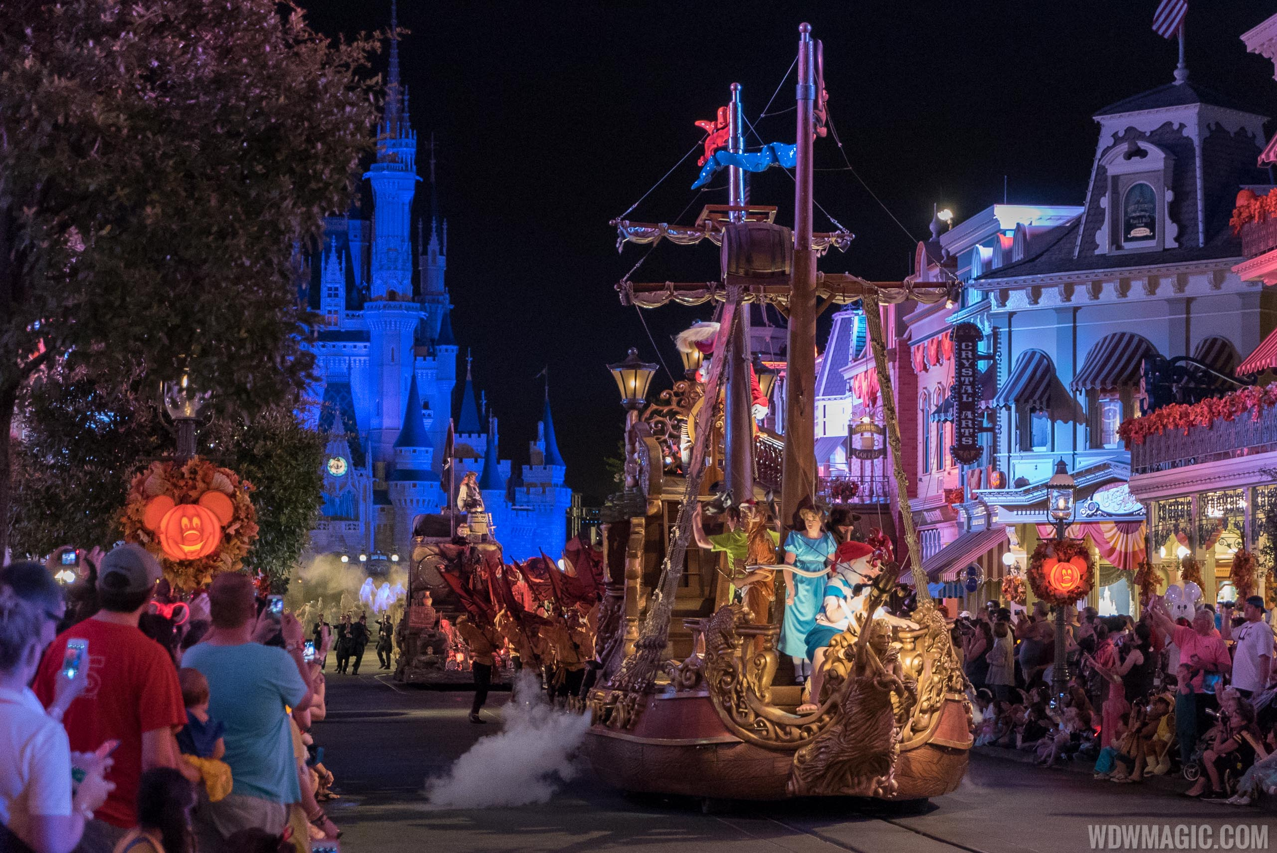 Mickey's Boo to You Halloween Parade - Peter Pan float