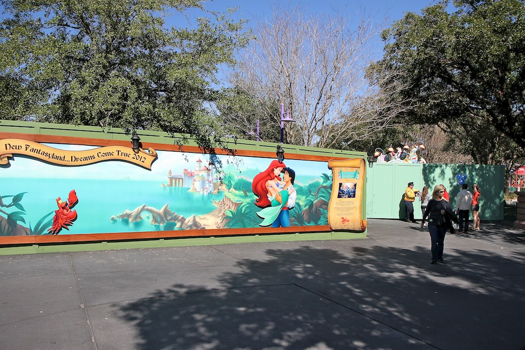 Walled off Toontown Fair