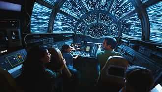 360 Video - Inside the Millennium Falcon Smugglers Run 'chess room'