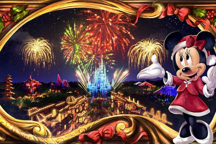 Minnie's Wonderful Christmastime Fireworks show concept art