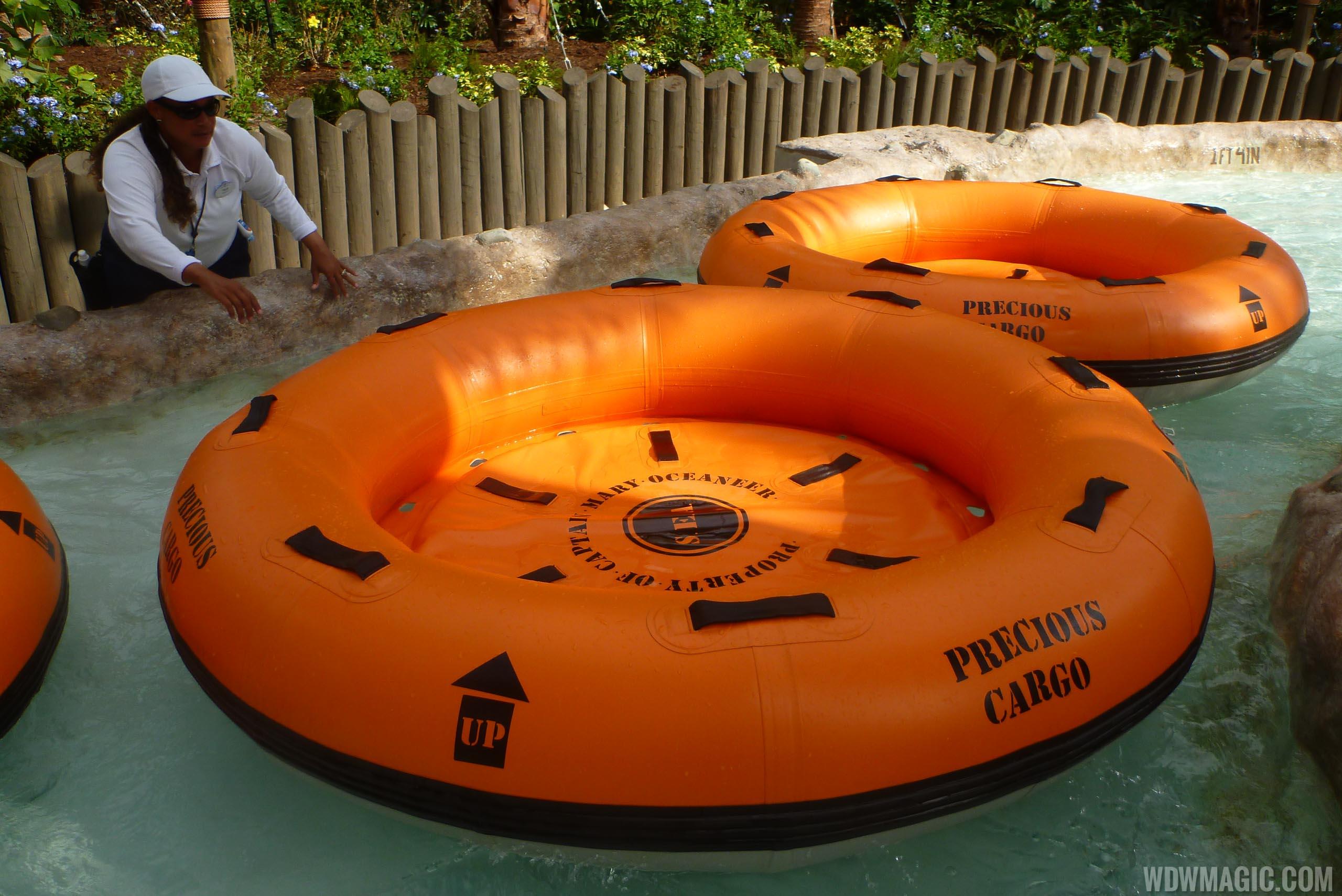 Miss Adventure Falls treasure raft