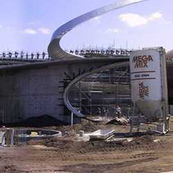 Panoramic construction image