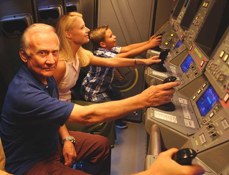 Buzz Aldrin at Mission Space