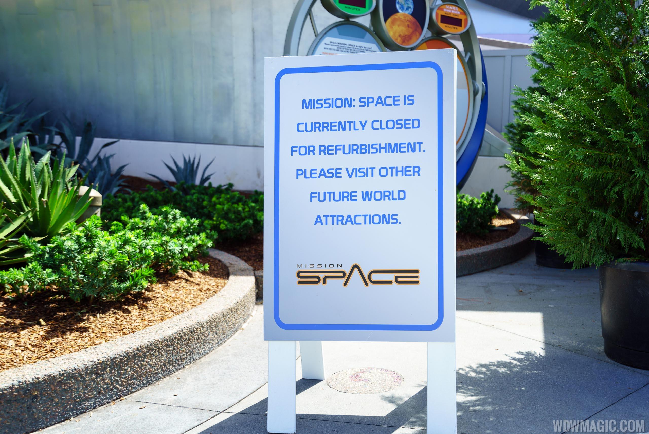 Mission SPACE refurbishment