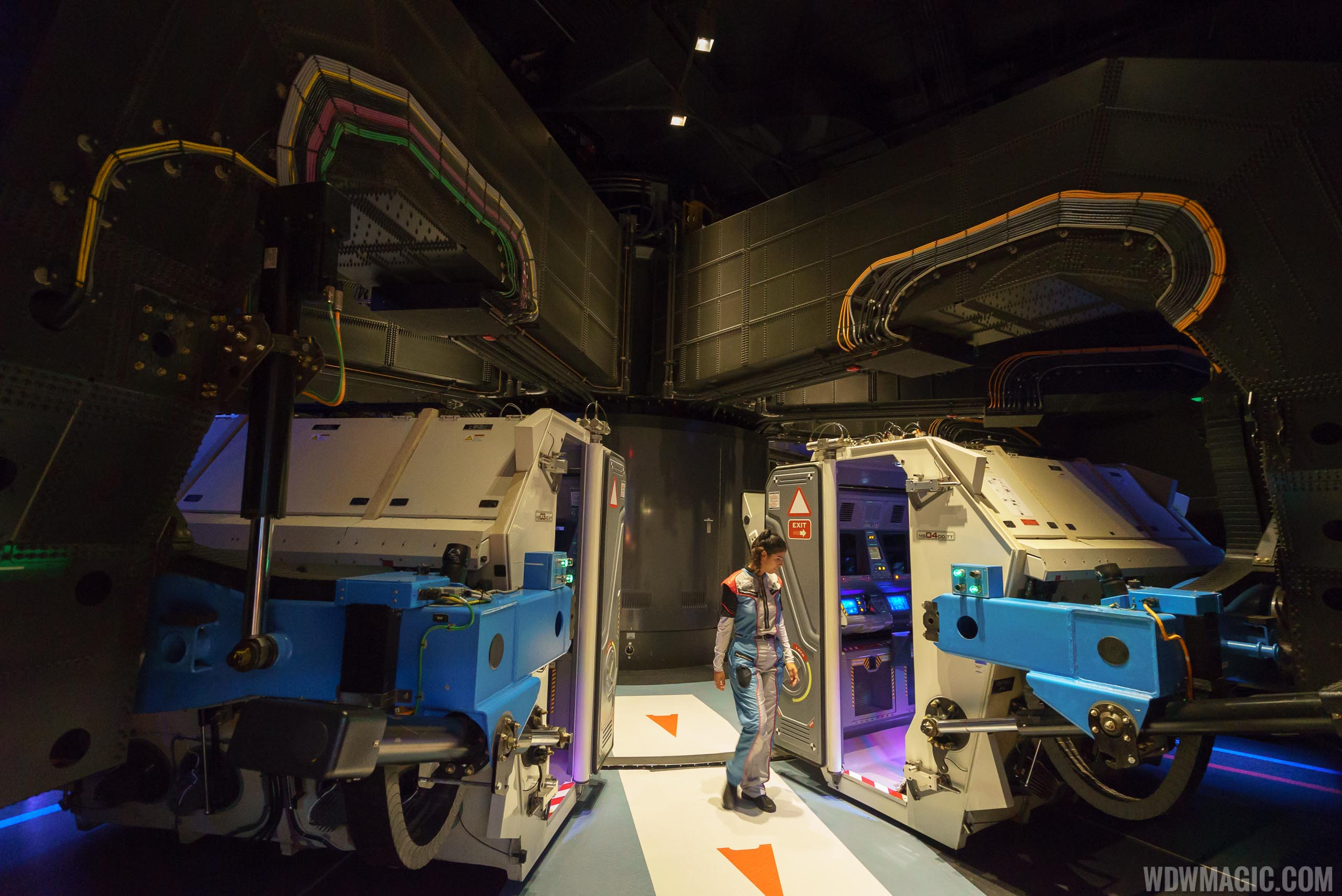 The Mission SPACE centrifuge ride system