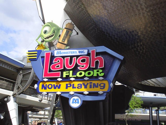 Laugh Floor name change - new sign