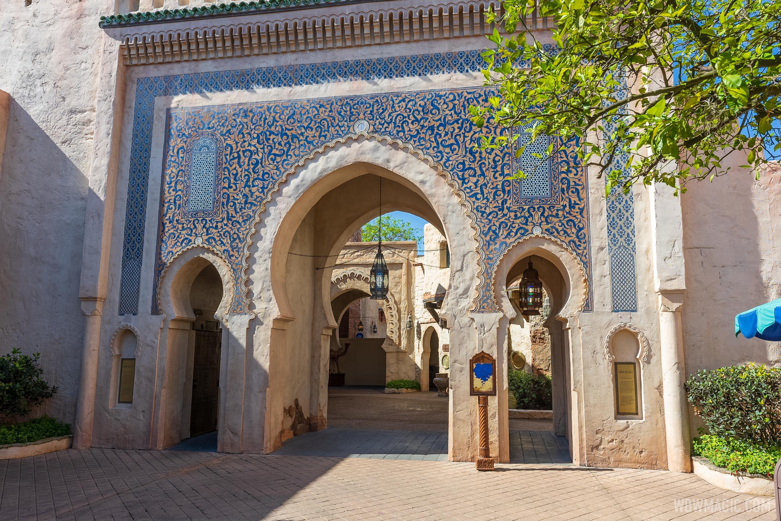Morocco Pavilion refurbishment walls - April 5 2021