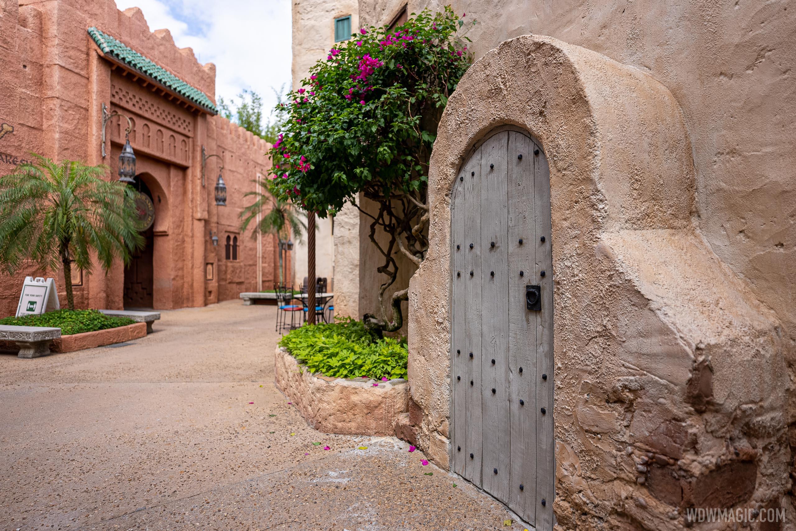 Morocco Pavilion reworked chimney
