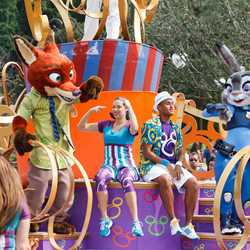 Zootopia joins the Move It! Shake It! Dance and Play It!' Street Party