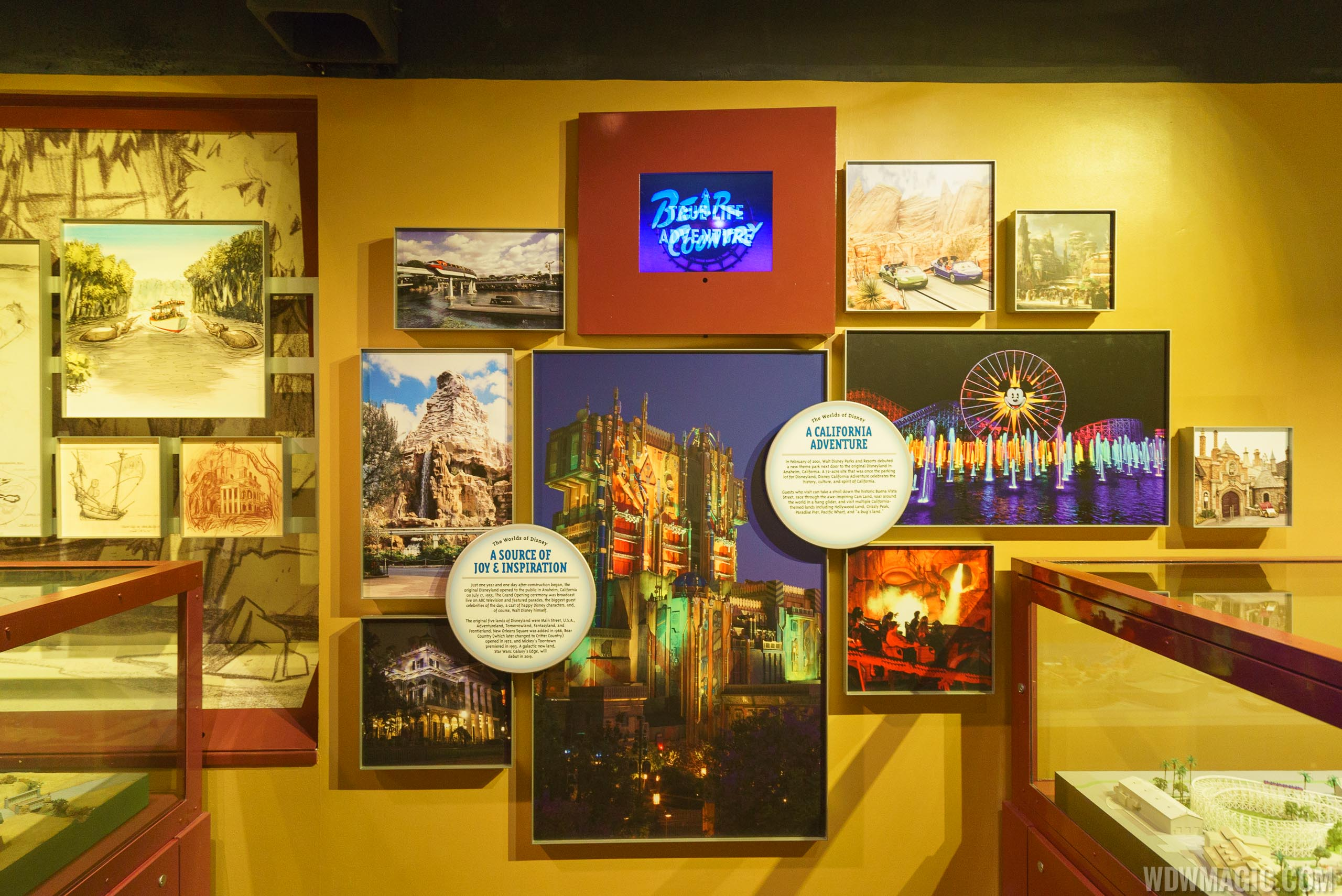 Walt Disney Presents new exhibits