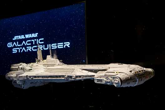 Star Wars Galactic Starcruiser model now on display inside Walt Disney Presents at Disney's Hollywood Studios