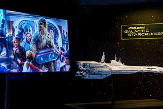 Star Wars Galactic Starcruiser model now on display inside Walt Disney Presents at Disney's Hollywood Studios