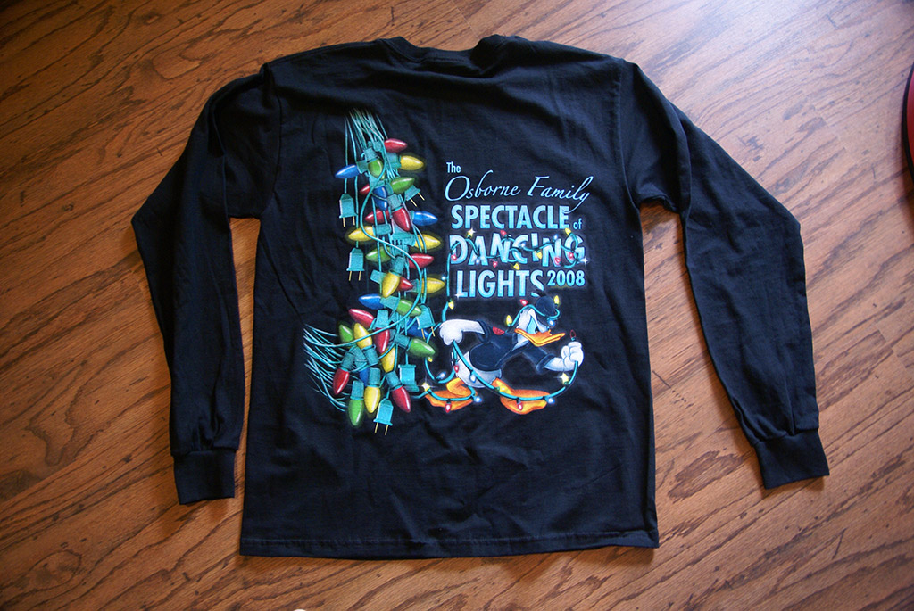 Osborne Family Spectacle of Lights 2008 t-shirt