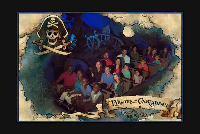 Pirates of the Caribbean on-ride photo
