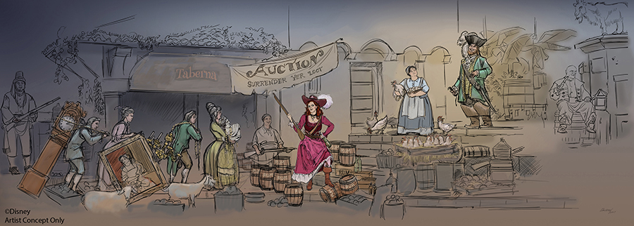 Concept art of new auction scene
