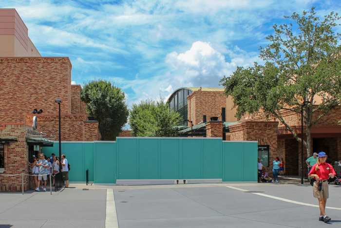 Pixar Place walled off
