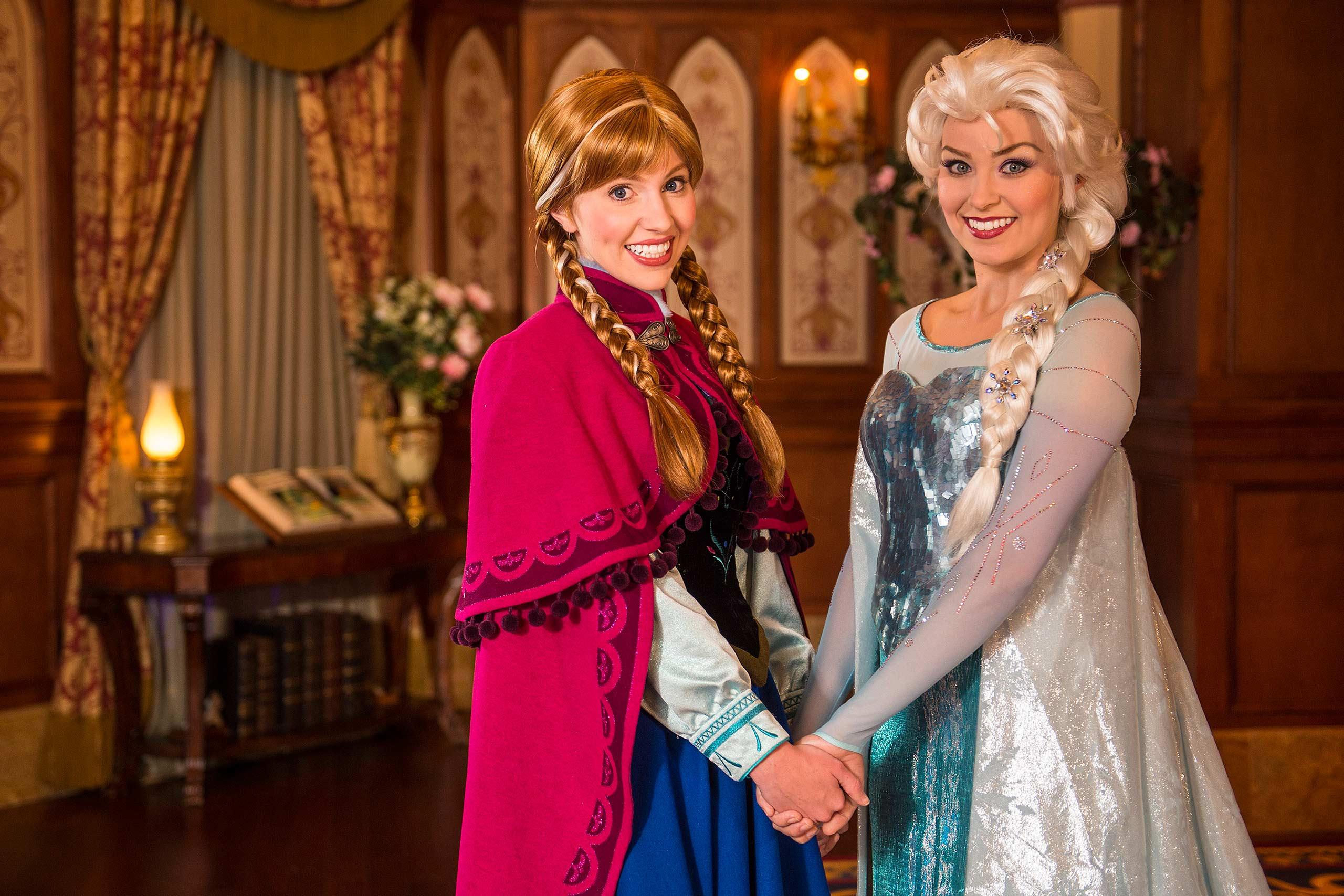 Elsa and Anna at Princess Fairytale Hall