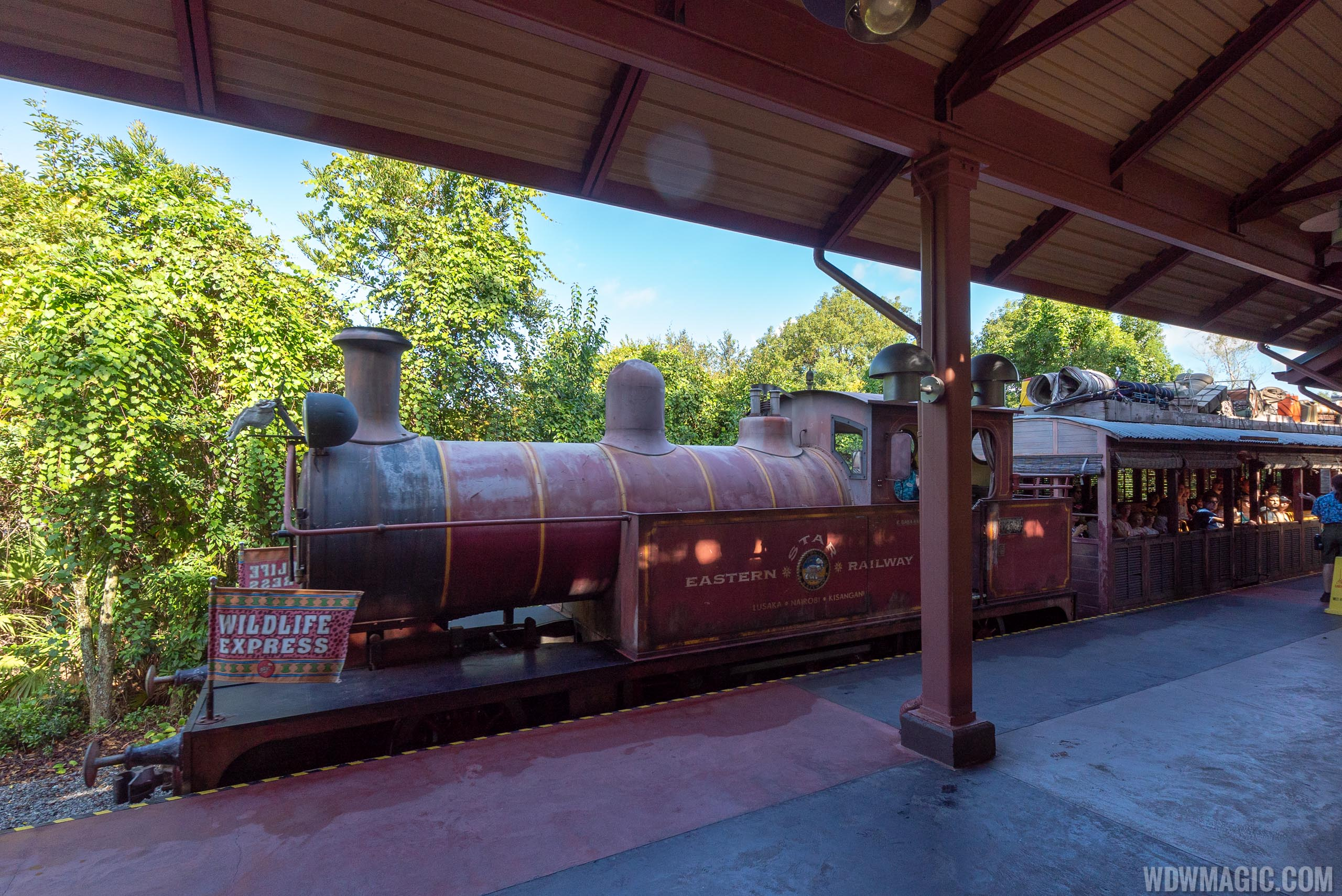 The Wildlife Express Train Station is the start of Circle of Flavors