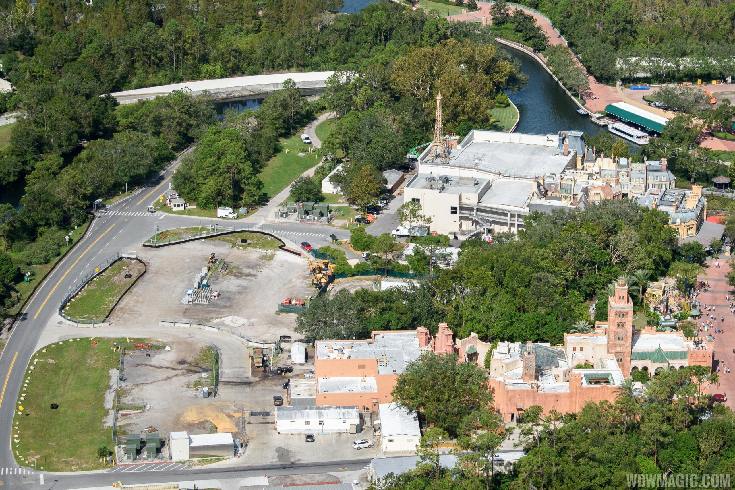 Ratatouille construction site from the air