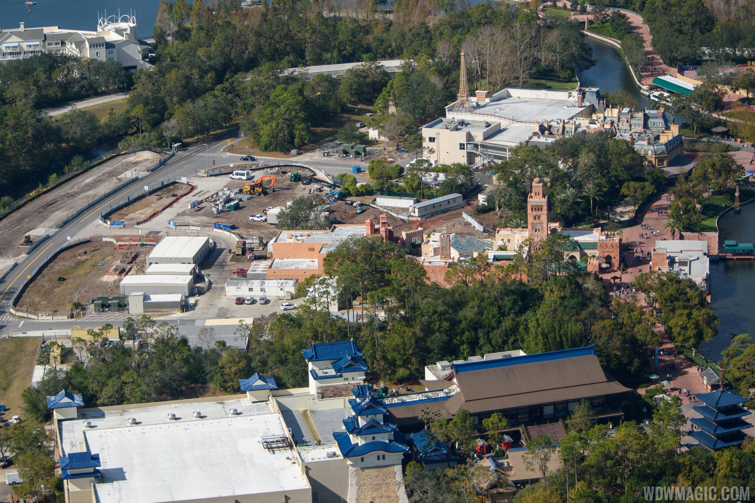 Ratatouille construction aerial view