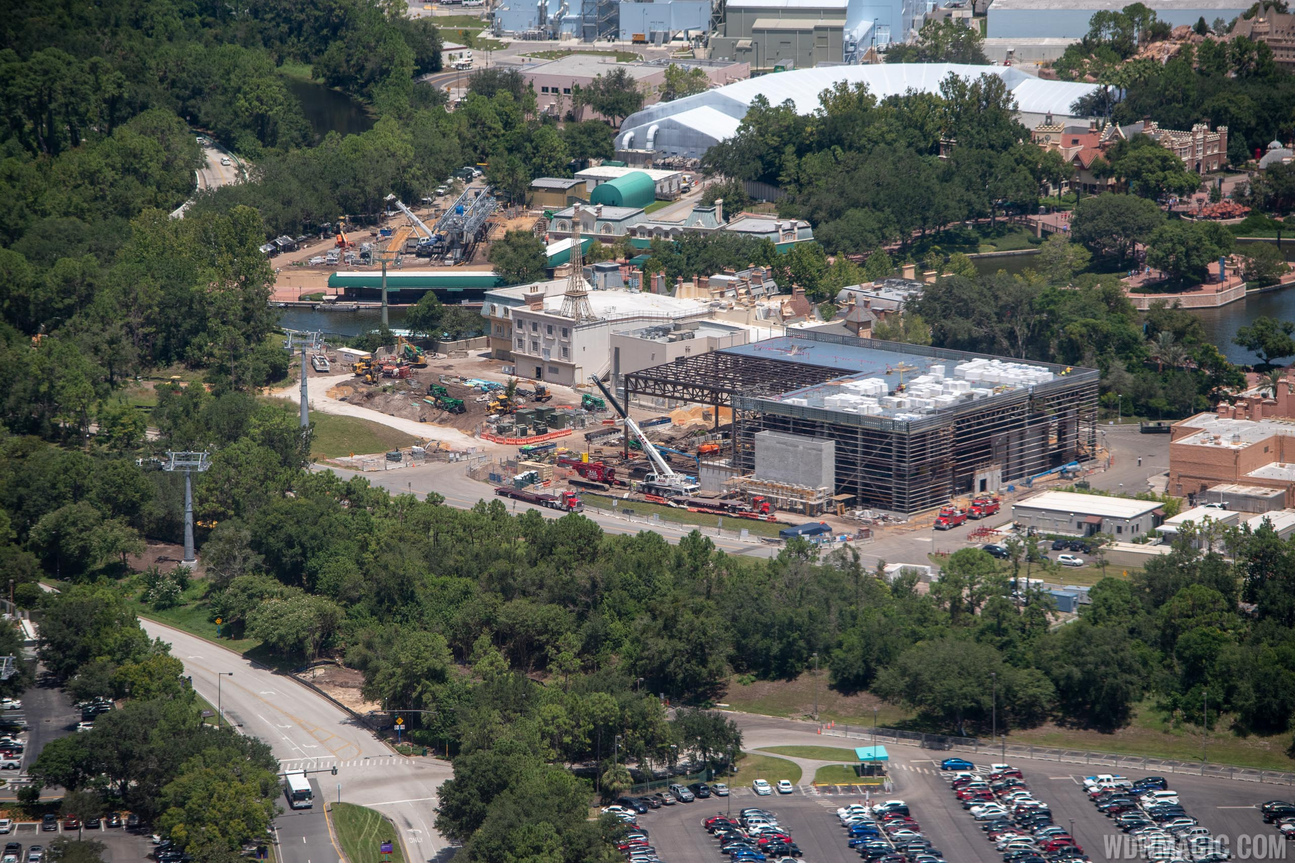 Ratatouille aerial construction pictures - August 2018