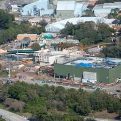 Remy's Ratatouille Adventure construction - January 2019