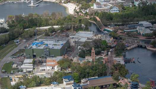 PHOTOS - Aerial views of Remy's Ratatouille Adventure construction