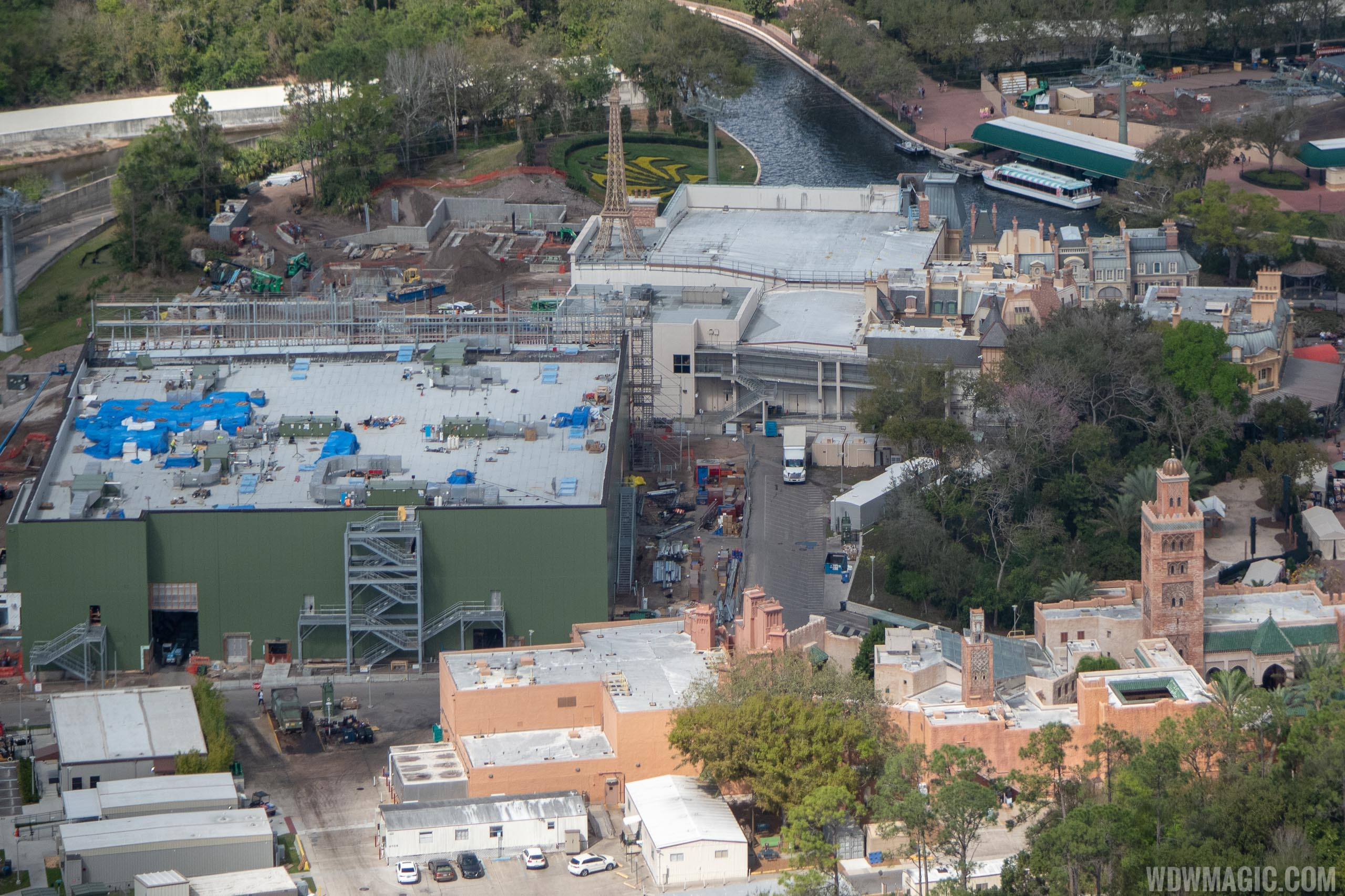 Remy's Ratatouille Adventure construction - February 2019