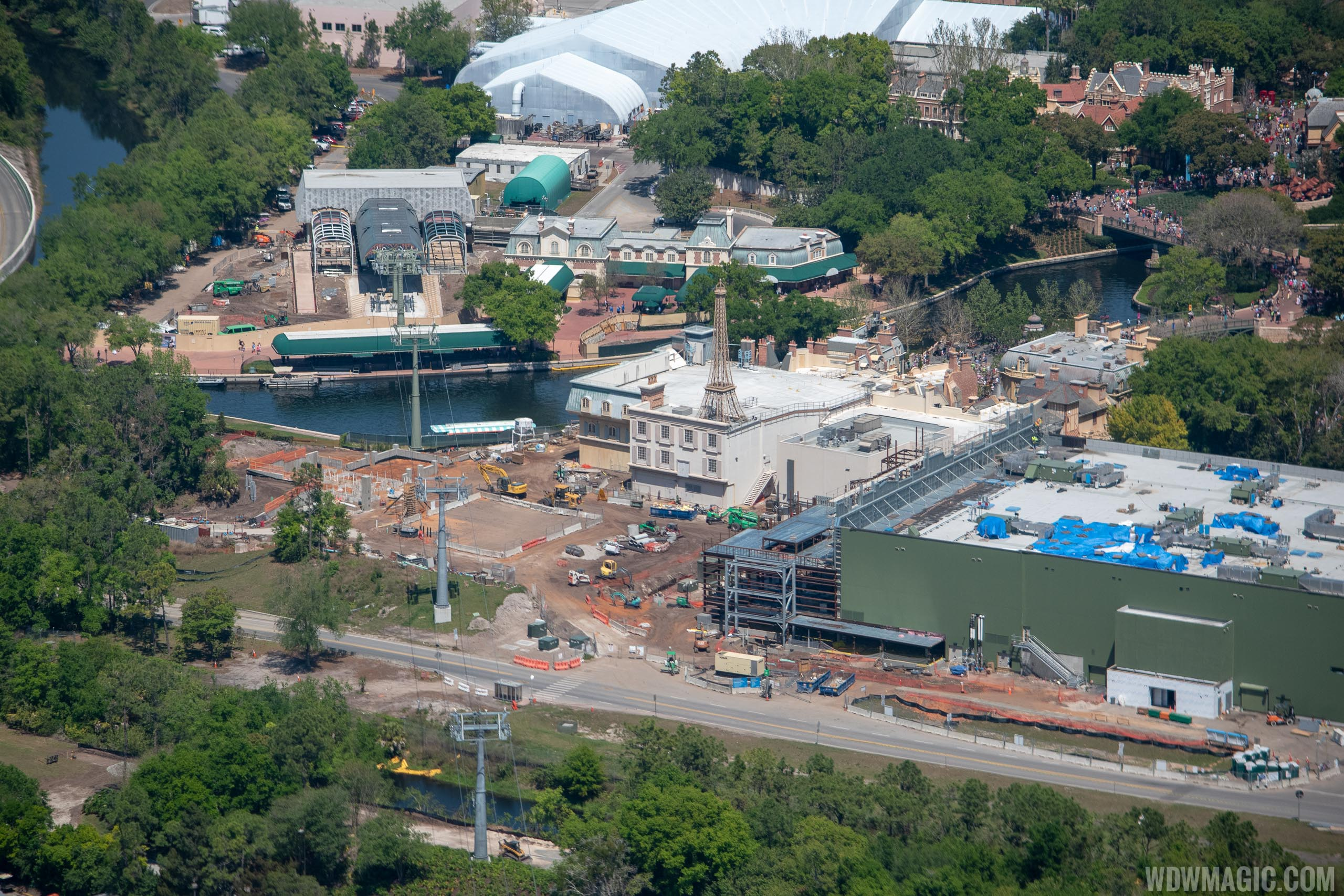 Remy's Ratatouille Adventure construction - March 2019