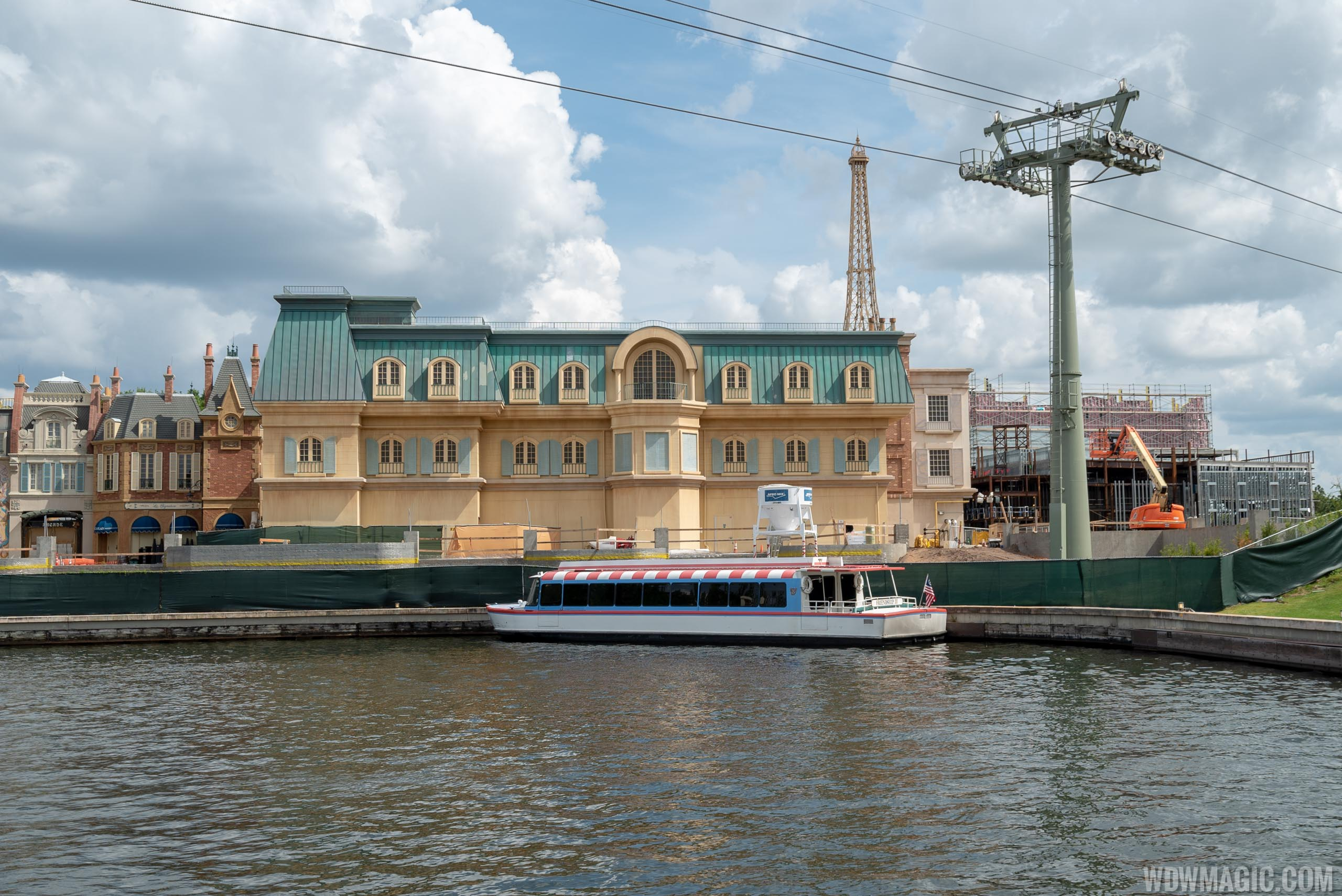 Remy's Ratatouille Adventure construction viewed from International Gateway - April 2019