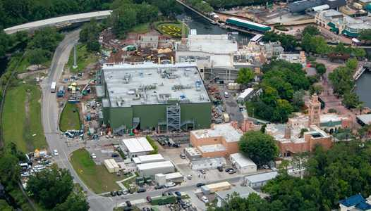 PHOTOS - Aerial view of Remy's Ratatouille Adventure under construction at Epcot