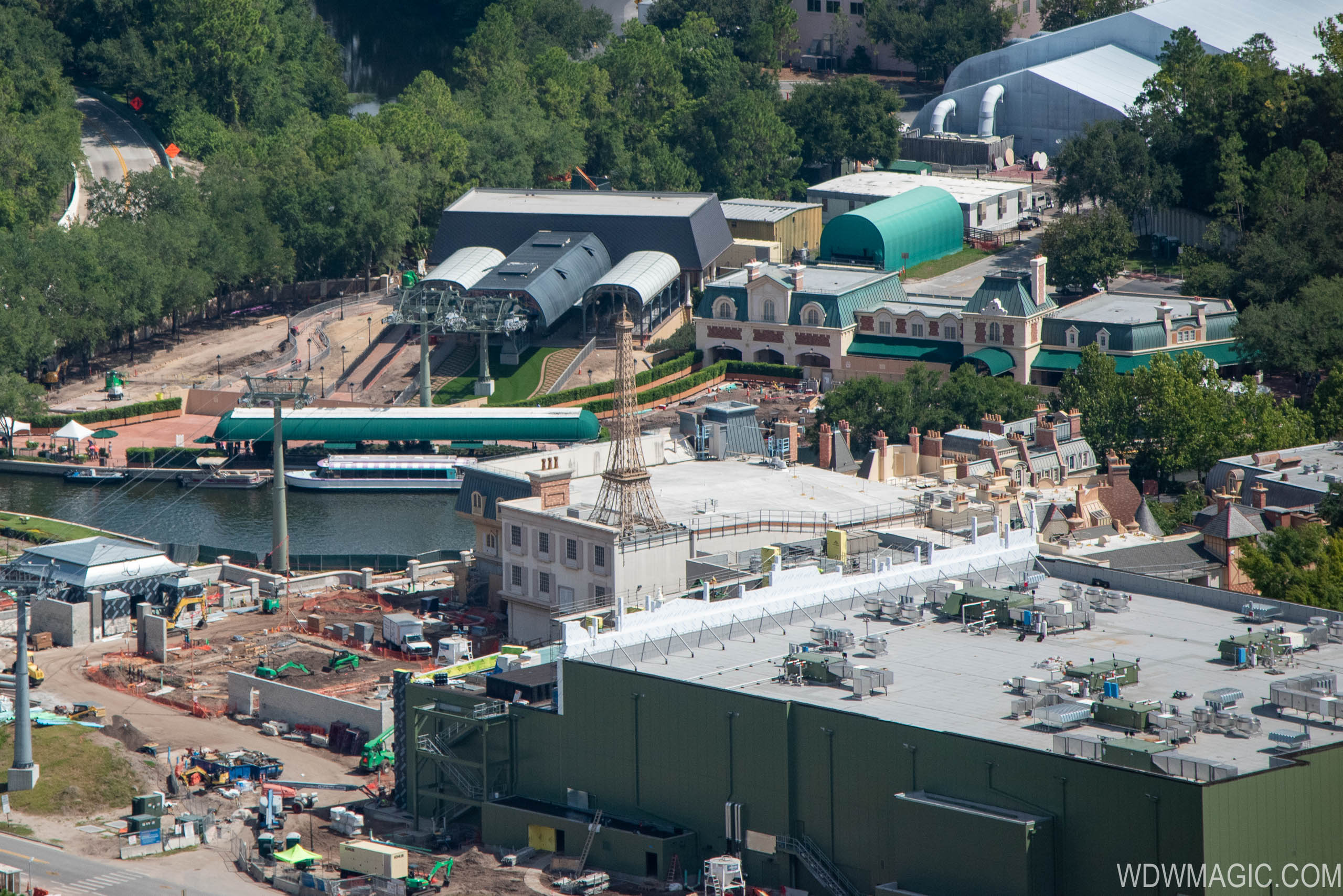 Remy's Ratatouille Adventure construction - July 2019