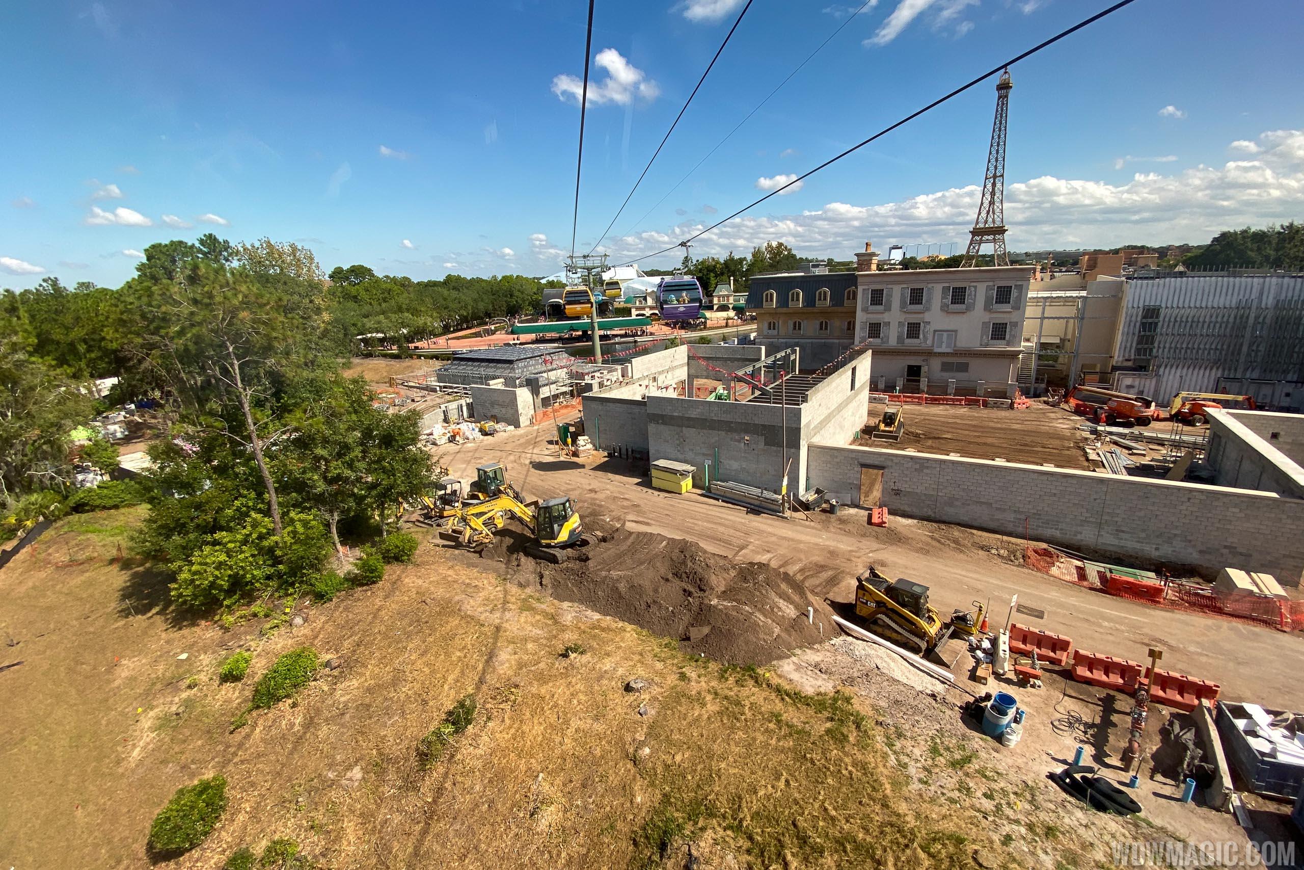 Remy's Ratatouille Adventure construction - September 2019