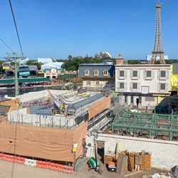 Remy's Ratatouille Adventure construction - December 2019