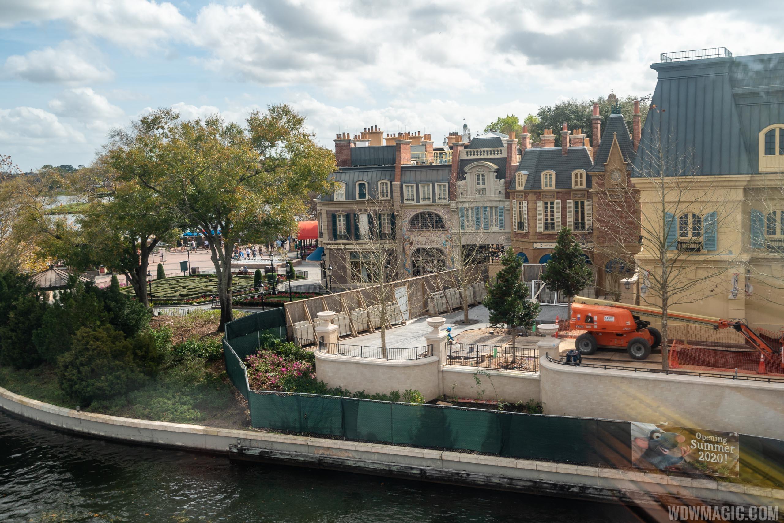 Remy's Ratatouille Adventure construction - February 2020