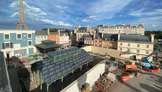 PHOTOS - Work is moving quickly at Remy's Ratatouille Adventure in Epcot's France pavilion