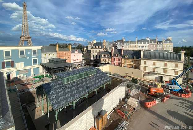 Remy's Ratatouille Adventure construction - February 23 2020