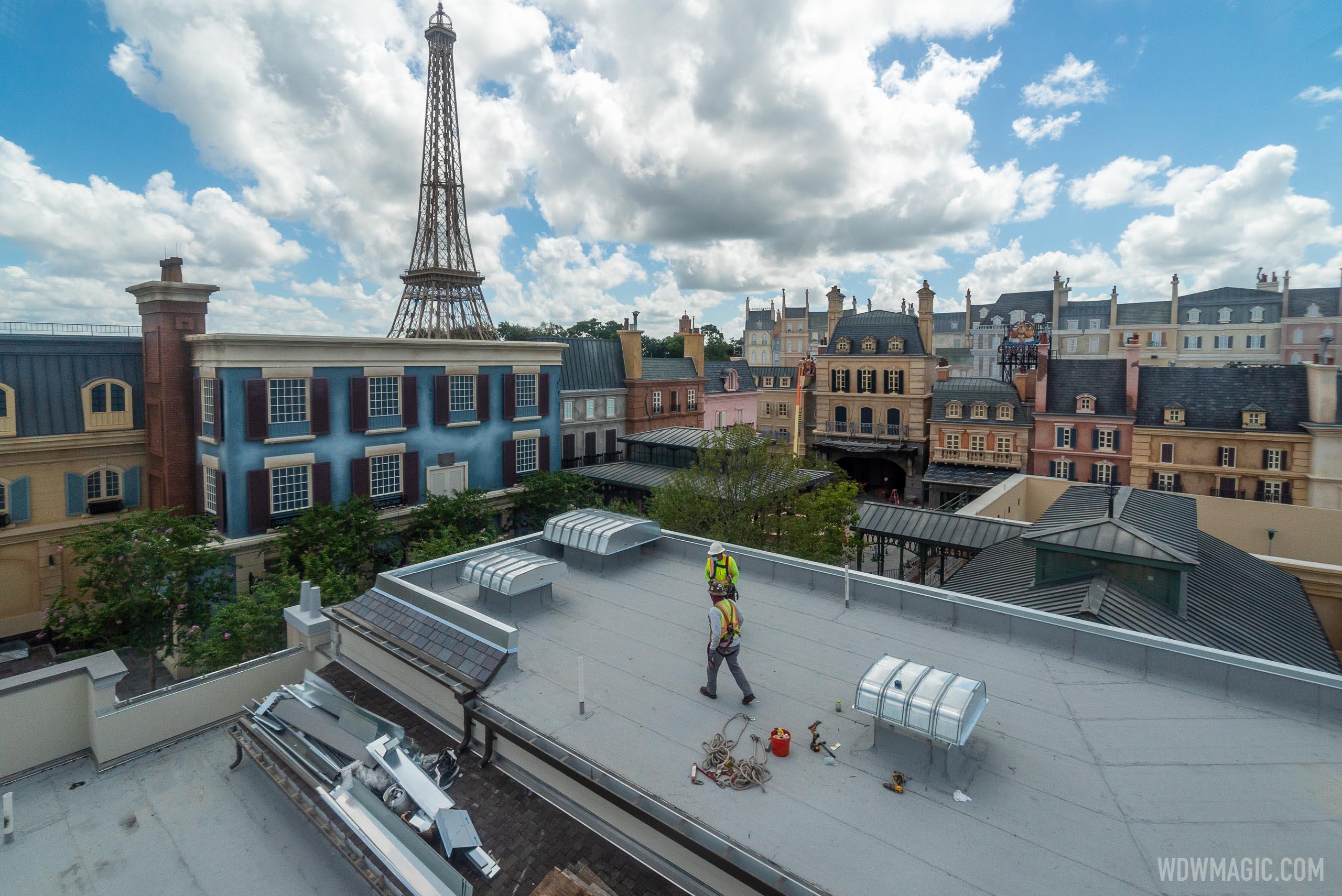 Remy's Ratatouille Adventure construction - August 26 2020