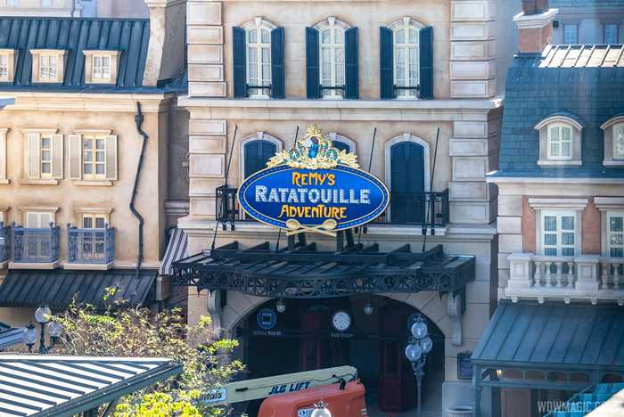 Remy's Ratatouille Adventure marquee sign