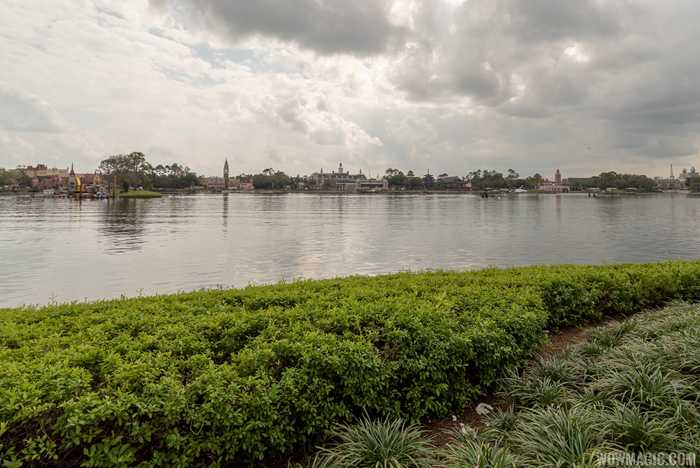 Epcot future firework show island construction