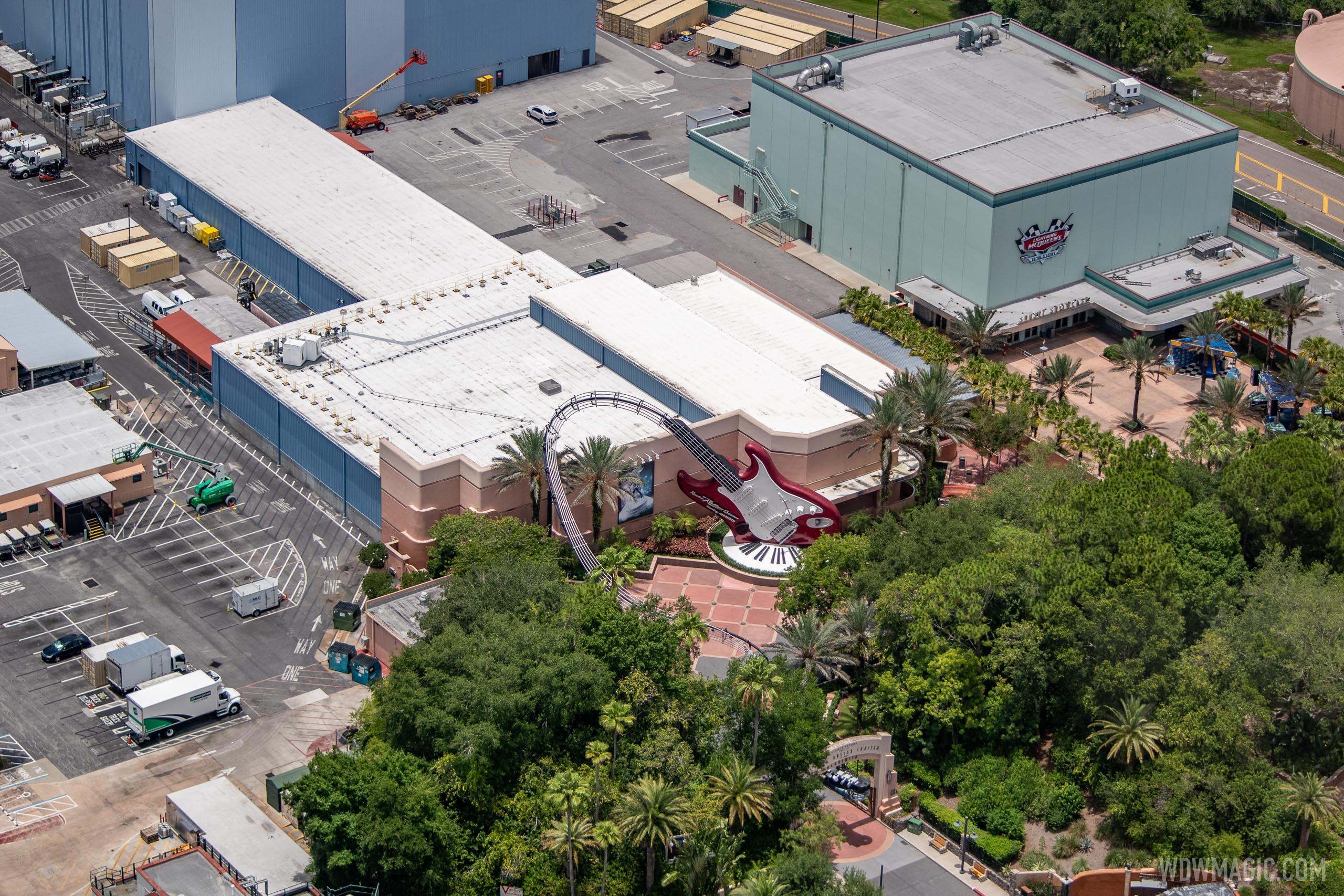 Rock n RollerCoaster aerial views