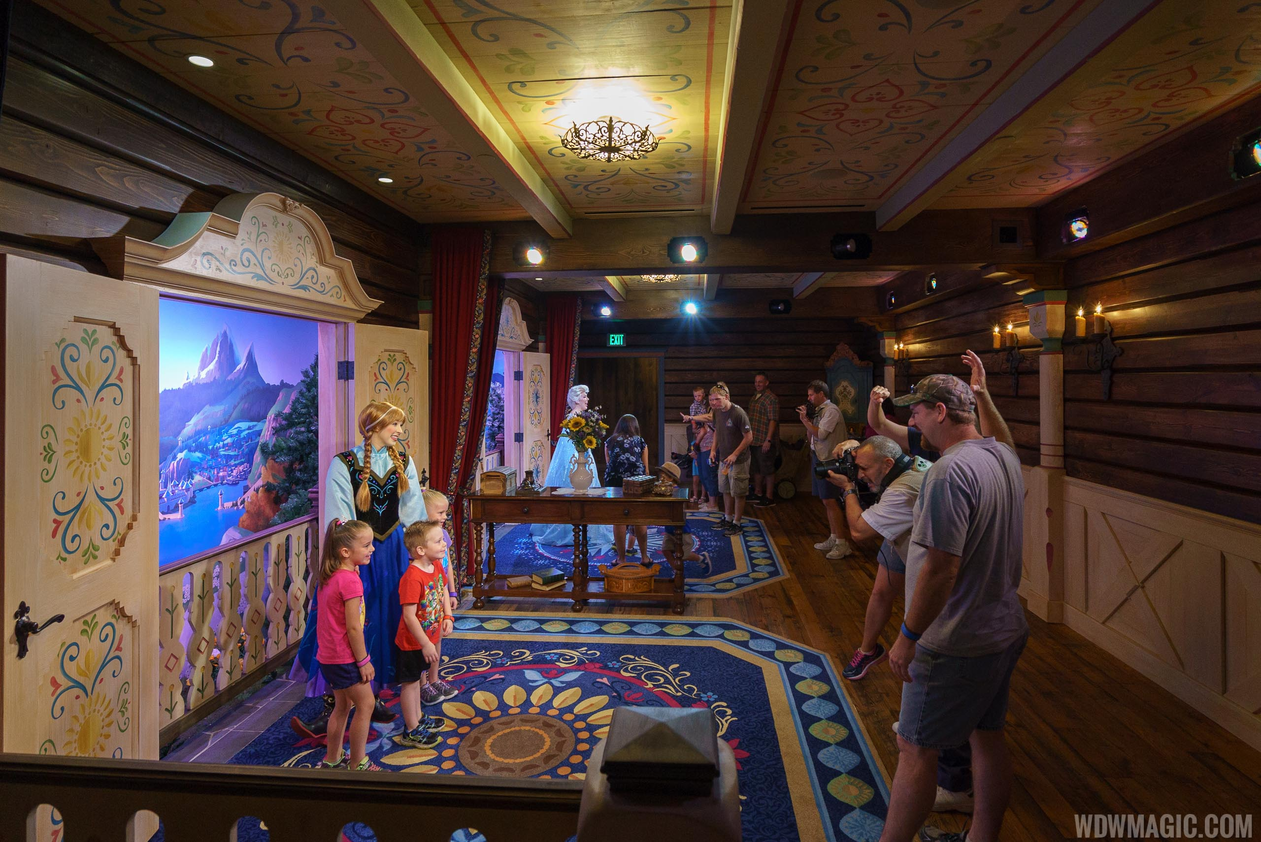 Royal Sommerhus Anna and Elsa meet and greet room